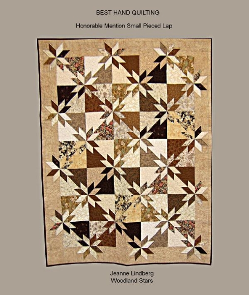2009 Best  Hand Quilting by Jeanne  Lindberg:  Woodland Stars