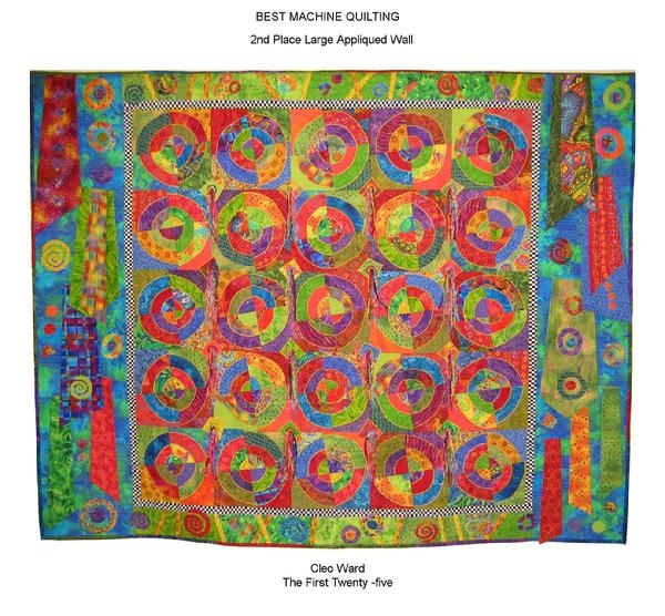2009 Best Machine Quilting by Cleo Ward: The First Twenty Five