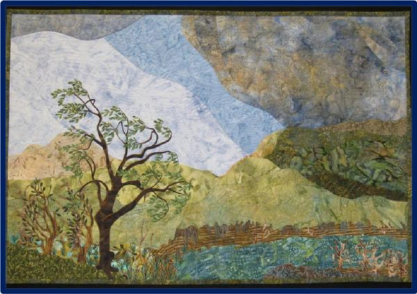 2011 Wall Quilts - Applique′: Waiting for Rain by Catherine Hart