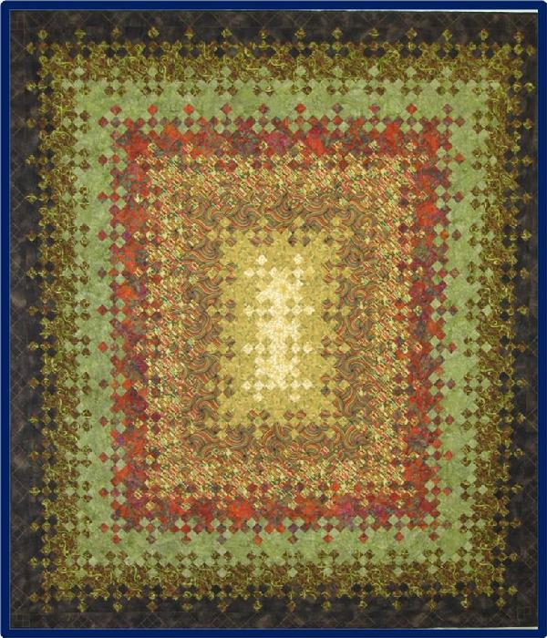 2011 Bed Quilts: Maple Grove by Norma Pettigrew