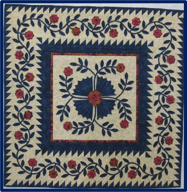 2011 Best Applique': Whig Rose by Robin Benson