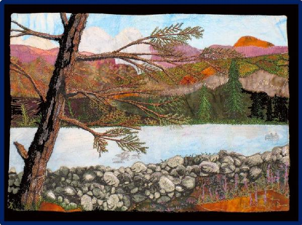 2013 Art Quilt: Summer at the Lake by Jodie Seila