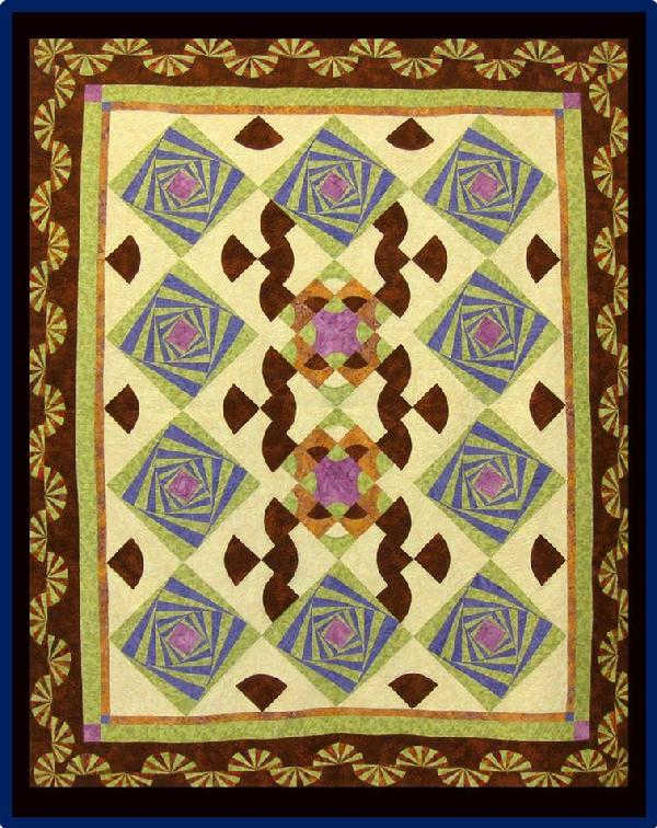 2013 Wall Quilts - Pieced: Flying Tumbleweeds by Joan Gardland
