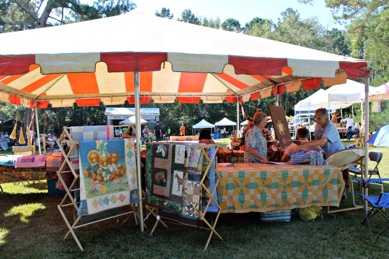 North Georgia Folk Festival booth with Terri Bear, Kathy Burkes and Phyllis Rother