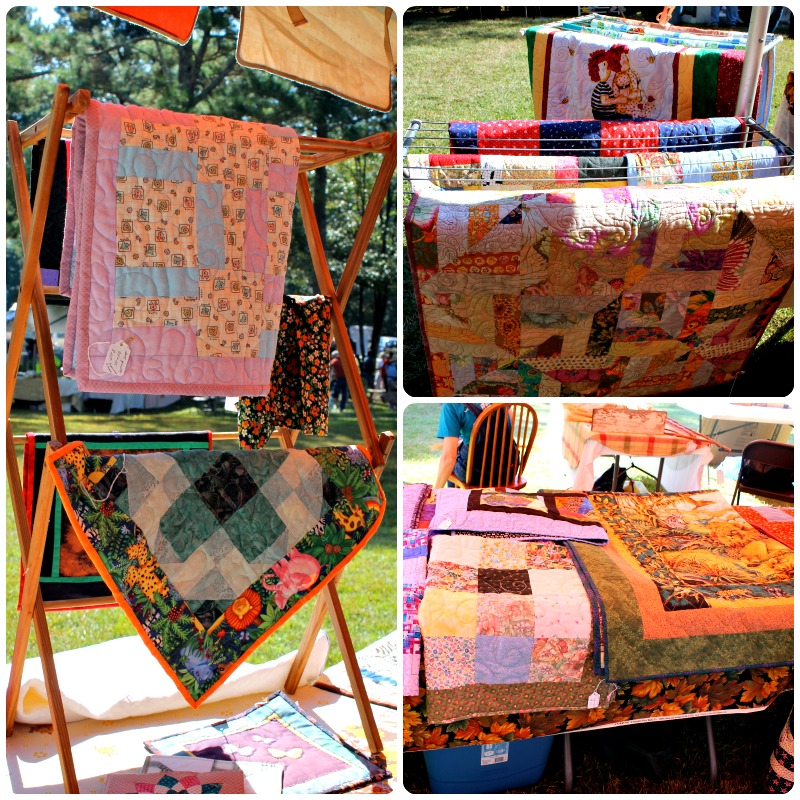 Acollection of quilts made by guild members