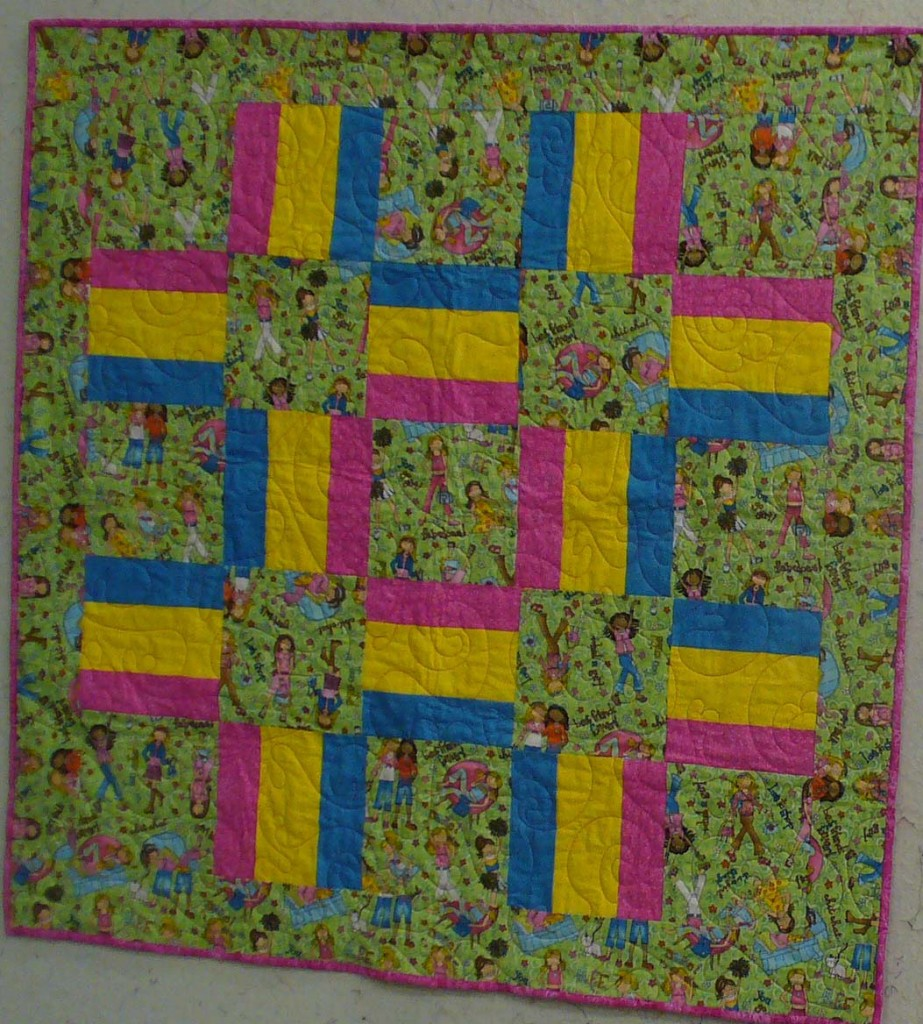 Finished Quilt; Charity Bee; July 31, 2013