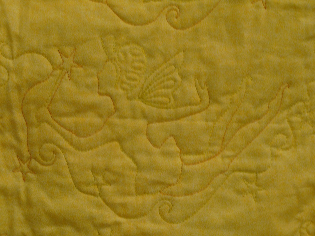 Back of Fairy Quilt; Charity Bee, July 24, 2013