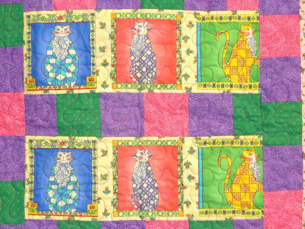 Cat Quilt Close Up; Charity Bee; July 24, 2013