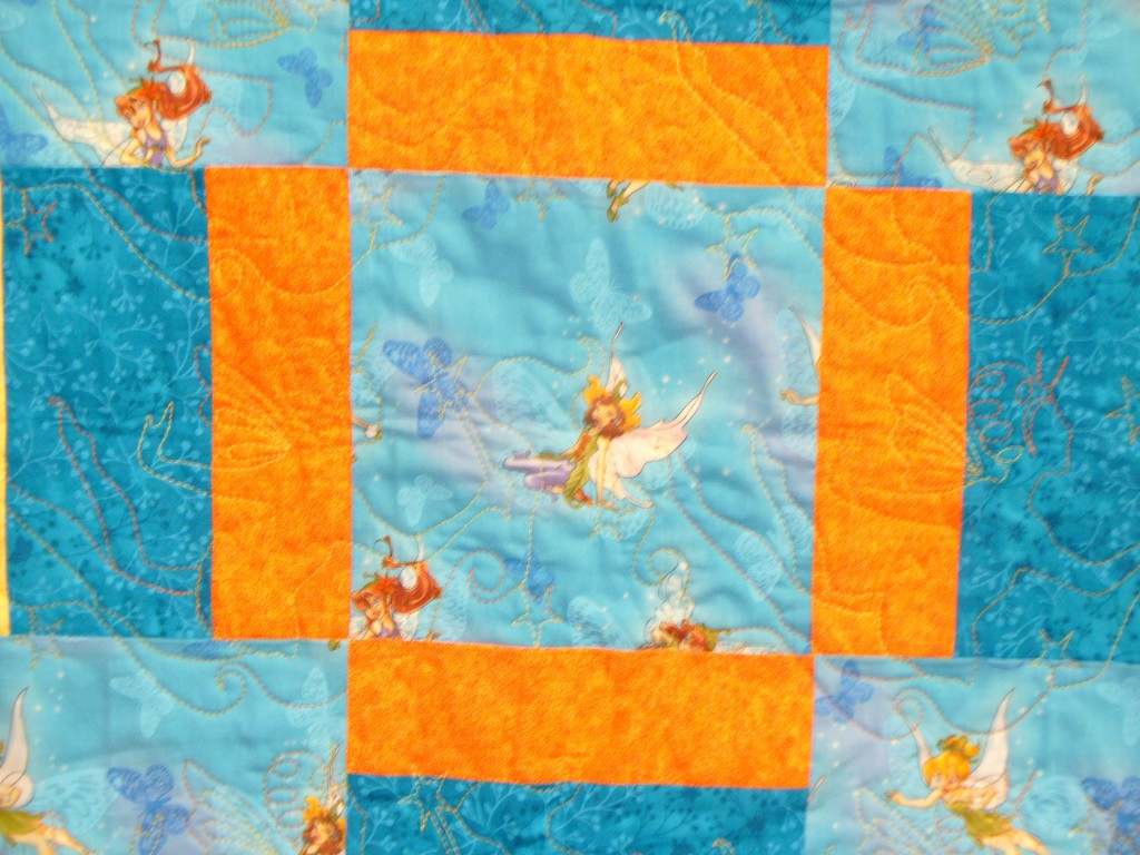 Fairy Quilt Close-up; Charity Bee, July 24, 2013