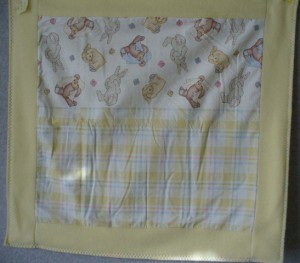 NICU-#2 bunnies & yellow plaid Yellow fleece