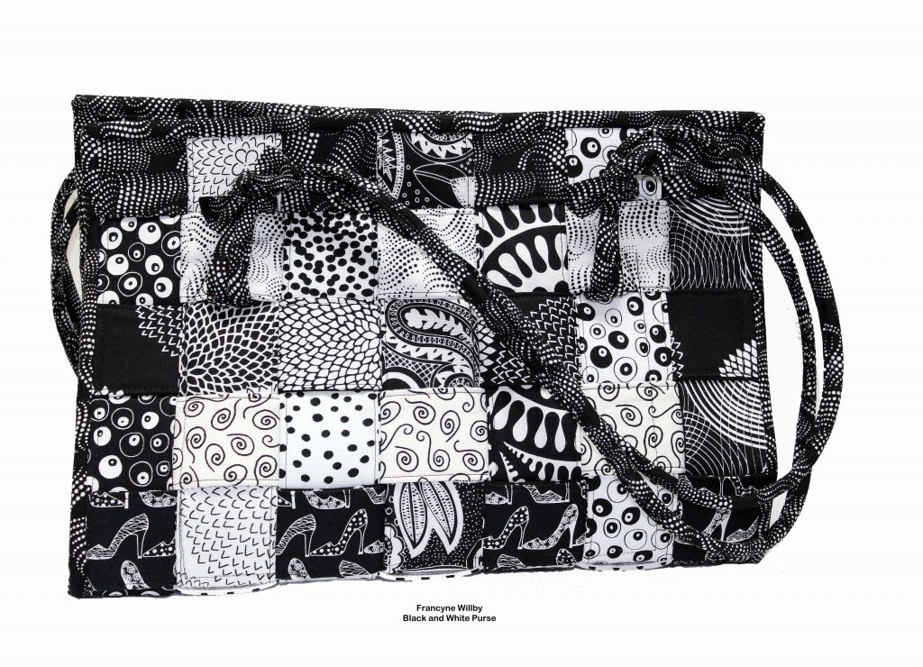 Willby black and white purse
